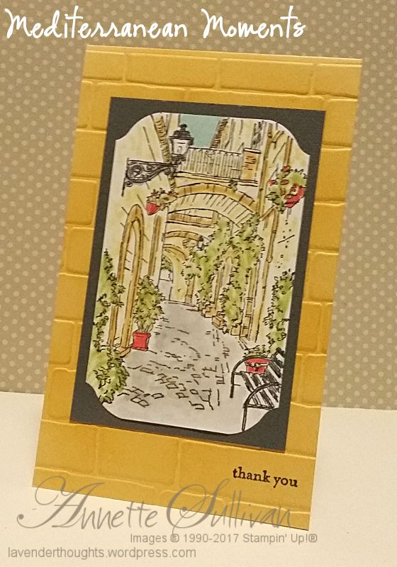 Mediterranean Moments Saffron Lane by fauxme - Cards and Paper Crafts at Splitcoaststampers