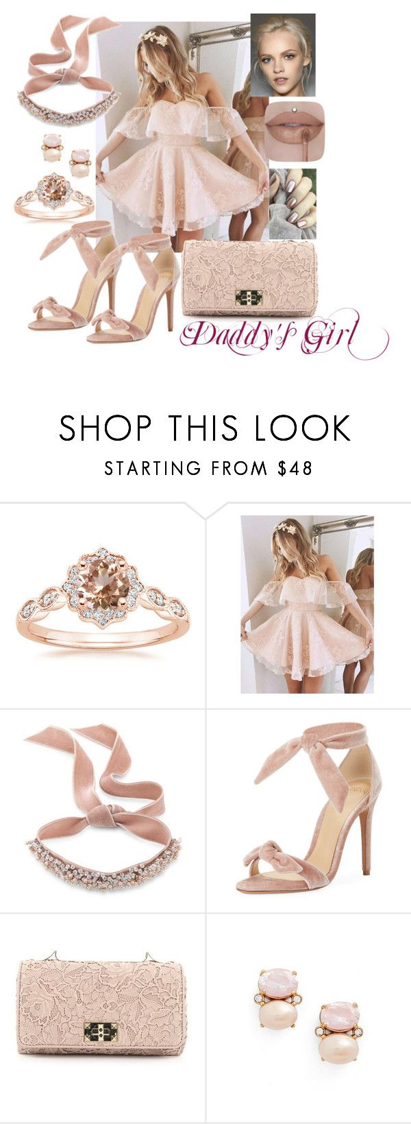 """""""Daddy's Girl"""" by thebigtree on Polyvore featuring Fallon, Alexandre Birman, Valentino and Kate Spade"""