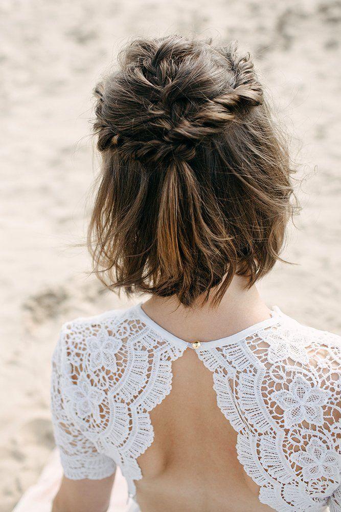 45 Perfect Half Up Half Down Wedding Hairstyles | Short wedding hair, Wedding hair down, Half up hair