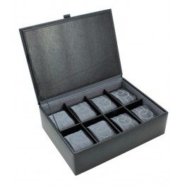Cutie 8 ceasuri, din piele naturala - Dulwich Designs