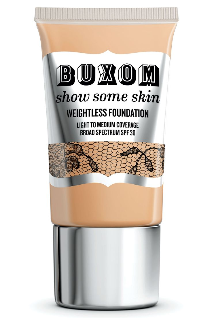 """""""Mineral makeup is good for sensitive and acneic skin,"""" says Barose. """"I find that it stays on all day, too, which is great, but just be sure to spend a little more time taking it off at night."""" Buxom Show Some Skin Weightless Foundation, $34, available exclusively at sephora.com. - HarpersBAZAAR.com"""