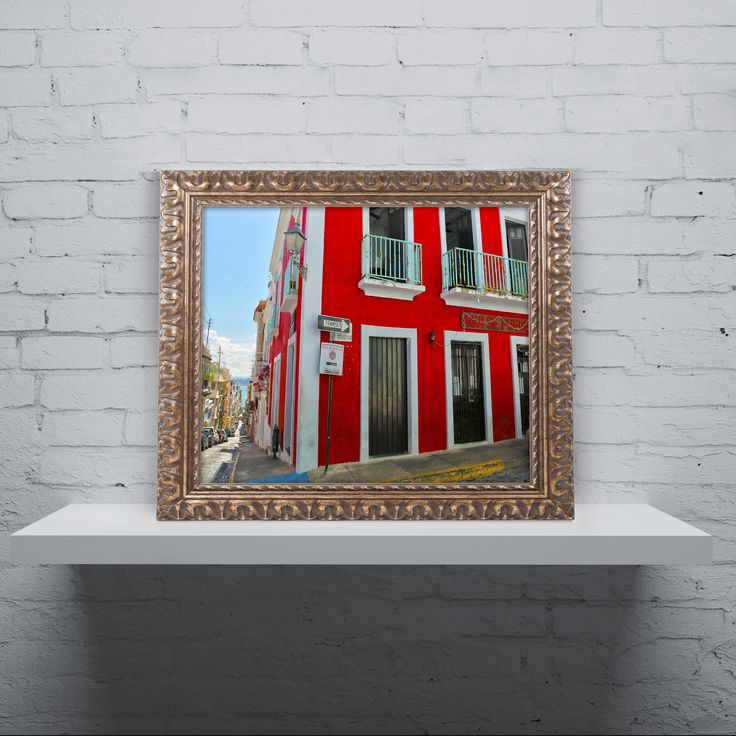 CATeyes 'Old San Juan 13' Ornate Framed Art