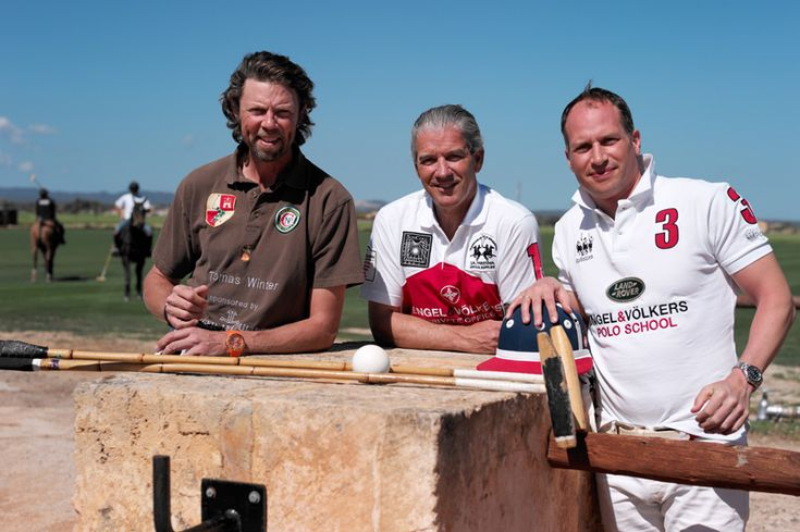 Engel & Völkers + Land Rover Polo School  The founders Christian Völkers, Rackham Schröder and Thomas Winter