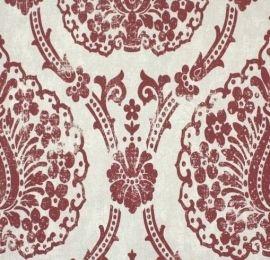 Marburg Scandinavian Vintage behang Normaal per rol €34,95 Afmetingen: 10M lang en 53CM breed Artikelnummer: 51655 Patroon: 64CM Kleur: rood, grijs Behangplaksel: Perfax roze Vliesbehang
