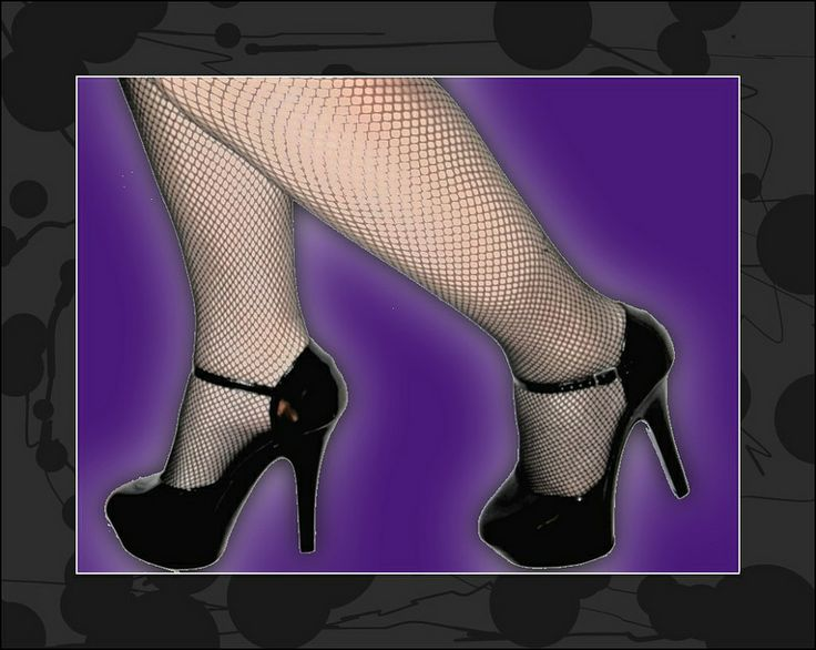 heels and fishnets