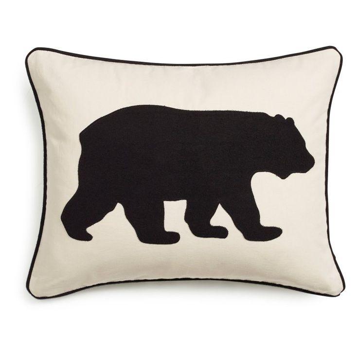 Eddie Bauer Bear Decorative Pillow by Eddie Bauer Black - 216606
