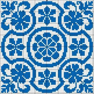 Square 77 | Chart for cross stitch or filet crochet.