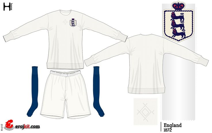 England home kit for 1872.