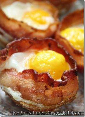 Bacon, egg and toast cups.  EASY! Fabulous way to serve eggs when you have company.