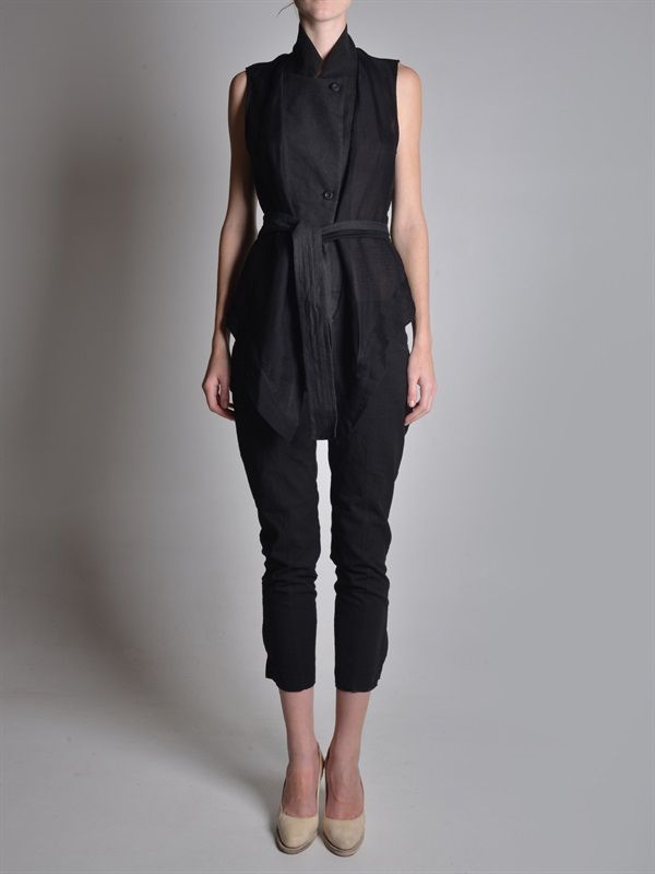 Lost&Found Waist Coat and Side Zip Trousers | GUIDI Nail Heel Pumps