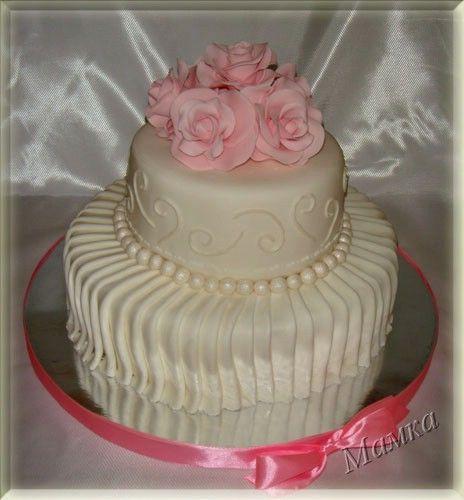 Торт украшенный драпировкой -Making Drapes for Fondant Cake - Мастер-классы по украшению тортов Cake Decorating Tutorials (How To's) Tortas Paso a Paso
