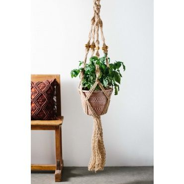 Macrame Plant Hanger - Earthbound Trading Co.