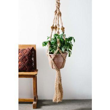 Macrame Plant Hanger - Earthbound Trading Co.
