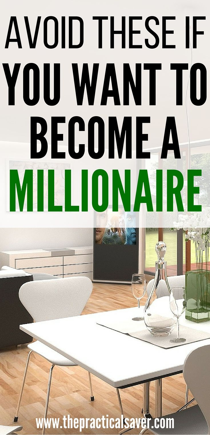 Want to become a millionaire? Ever aspire to become a millionaire? This post details ways or actions that people do that negatively affect their own chances of reaching their goal of a million dollar or more. millionaire l investment l make money l investment strategies l extra money l personal finance l. stock market l financial management l budget plan l money management
