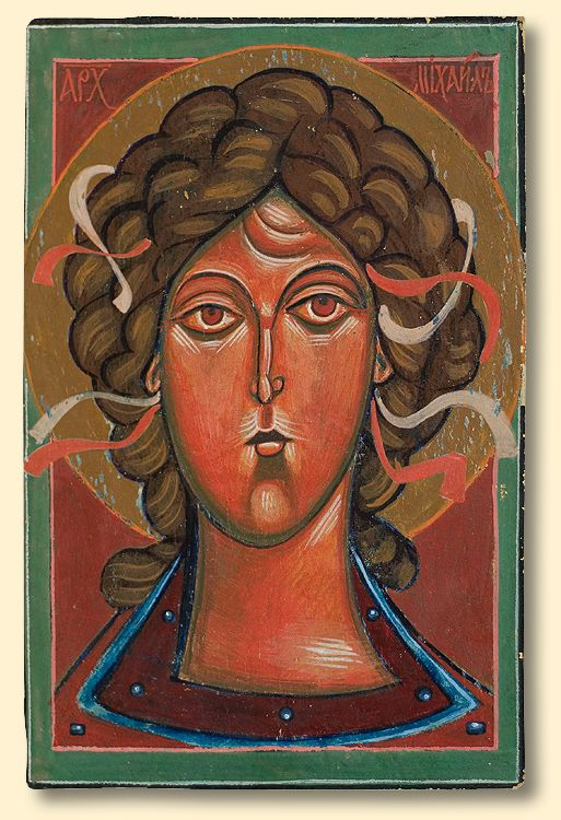 Jerzy Nowosielski | Archangel Michael, 1960s | tempera on woodboard
