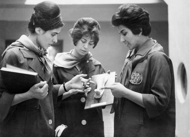 Incredible when you look at women there now and see how far they slid back into oppression.   Afghan women studying medicine in 1962.
