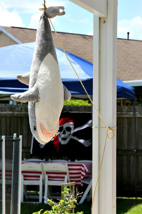 LOL for Fellow Shark Haters/Lovers! | Outdoor Pirate Party | Missfrugalfancypants.com