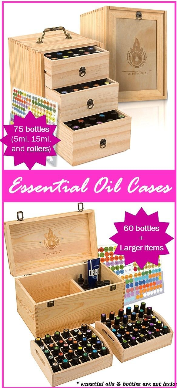 Love these new wood cases! They're portable, hold lots of essential oils, and have room for roller bottles and larger items (like carrier oil, dropper bottles, and lotion).  click for more info