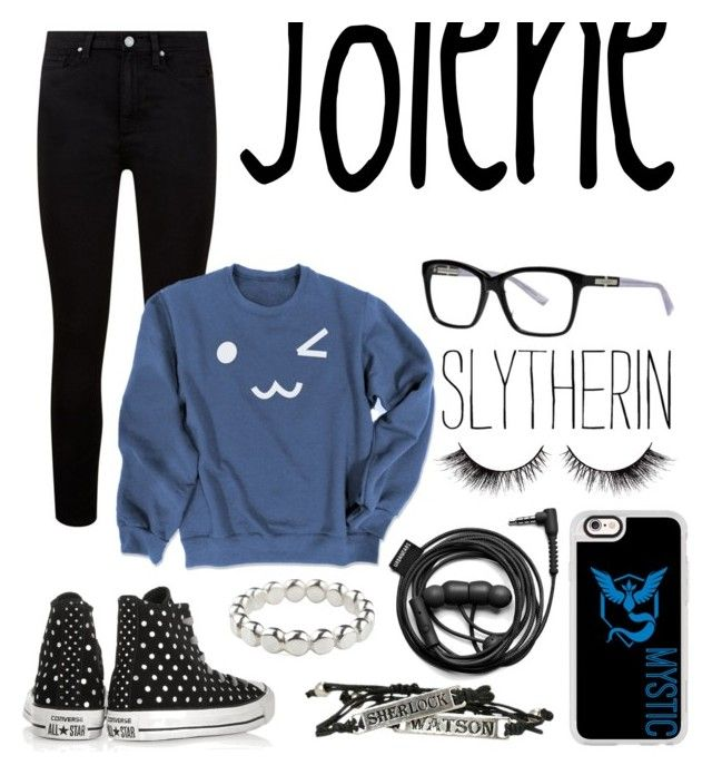 """Jolene"" by iamnumber-fou on Polyvore featuring Paige Denim, Converse, Nina Ricci, Vicky Davies, Casetify and Forever 21"