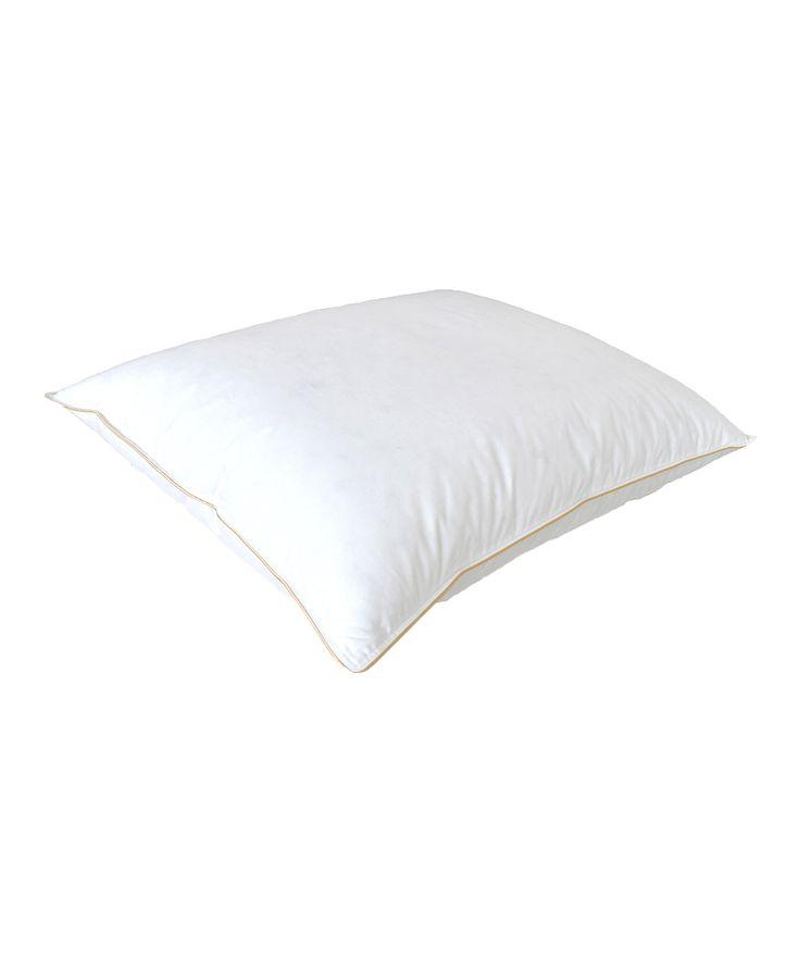 Premium White Goose Down Medium-Firm Pillow