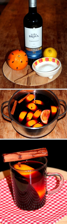 Glühwein......!     Was 1 sinaasappel (en/of 1 citroen) en steek 10 kruidnagels in de sinaasappel. Schenk in een grote pan 2 flessen rode wijn, 2 kaneelstokjes en voeg 100 gram suiker en de vruchten toe. Je kun  t de sinaasappel heel laten of in partjes snijden. Verwarm op een laag vuur en laat ongeveer een halfuur trekken (niet laten koken!). Proef en voeg eventueel nog wat extra suiker toe. Zeef de glühwein als je geen vruchtvlees in je wijn wilt. Schenk in glazen en serveer het warm!