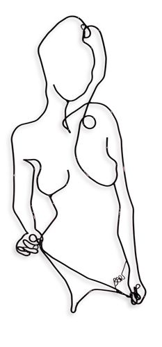 Nude wire wall art