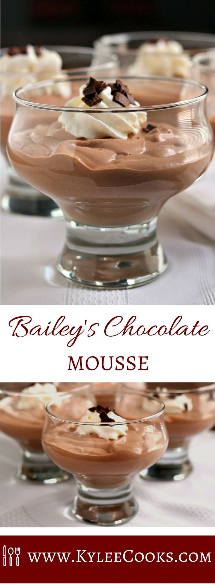 Bailey's Chocolate Mousse Karlynn | The Kitchen Magpie