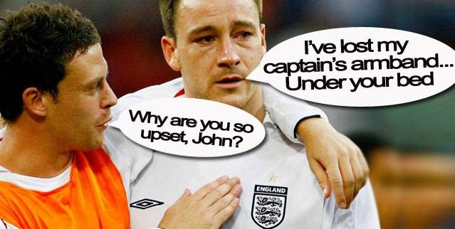 John Terry and Wayne Bridge once both of them were team mates...