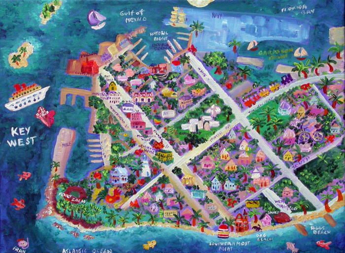 Map Of Key West Wedding Invites And Stationery