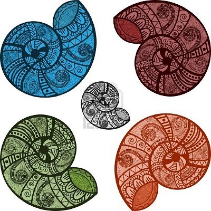 Google Image Result for http://us.123rf.com/400wm/400/400/alexmakarova/alexmakarova1103/alexmakarova110300016/8977973-vijf-heldere-vector-slak-schelpen-met-etnische-patronen.jpg