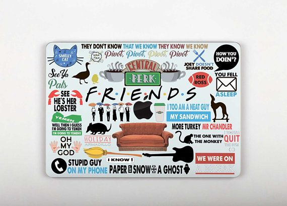 Friends TV Show Macbook Pro 13 Skin Keyboard Stickers Macbook Pro 15 Retina Macbook Air 13 Skin Touc