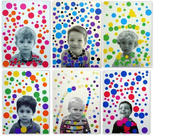 les petites têtes de l'art: On aime les pois comme Kusama / portrait