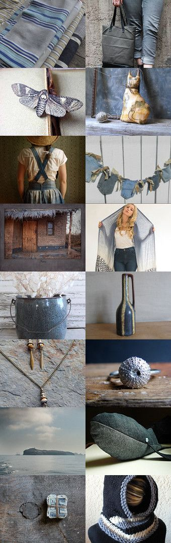denim blues by Bea on Etsy--Pinned with TreasuryPin.com featured on the front page at 6:00pm EST Tue Sep 23 2014