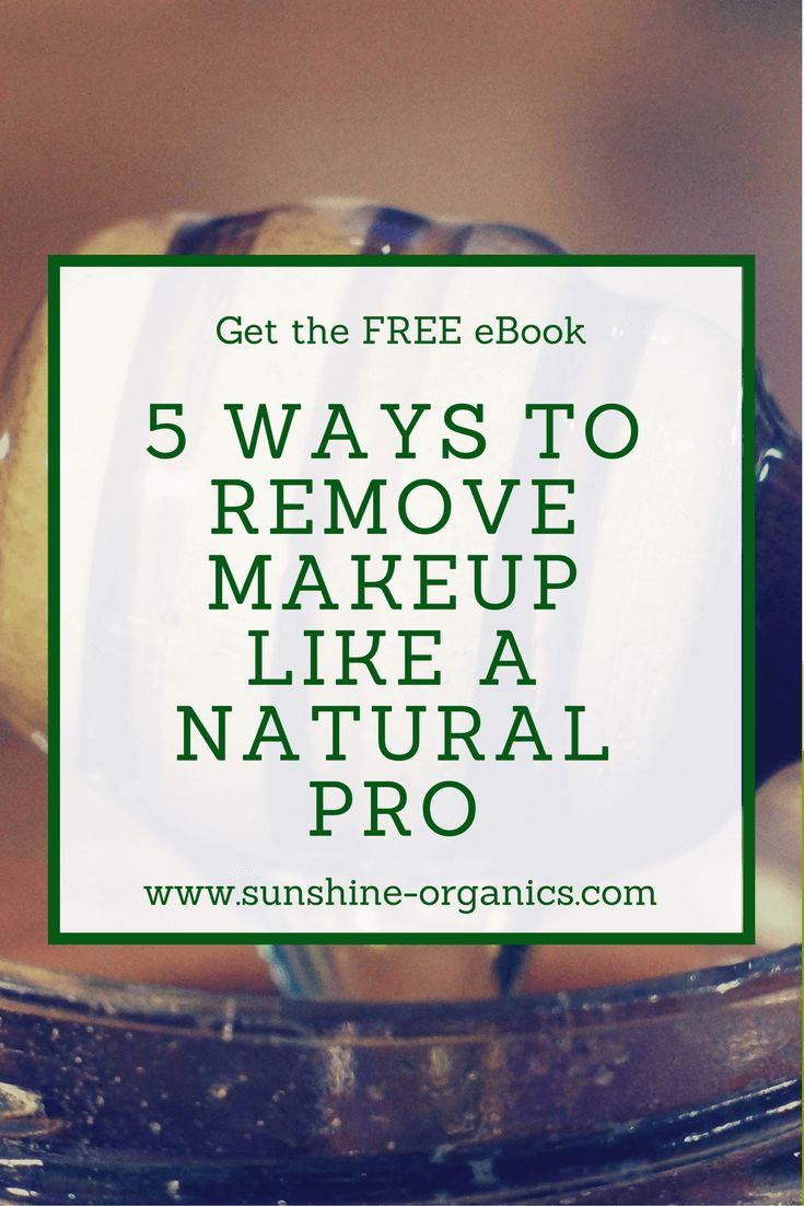 Get the FREE eBook: 5 ways to remove makeup like a pro. Learn how to remove makeup with these crazy and amazing natural methods. Get the tips: https://blog.sunshine-organics.com/ebooks/