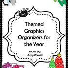 This bundled themed graphic organizers includes:  Idea Maps  ABC's of it All  Cause and Effect  Compare and Contrast  Word Meaning Maps  Story Cubes  Stor...