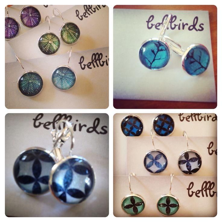 Earrings made by Bellbird Designs