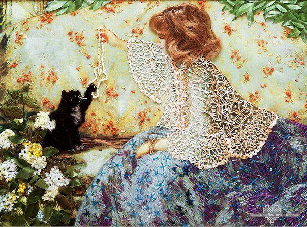 Объёмная вышивка Галины Перовой