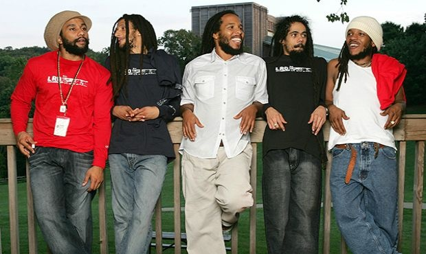 The Marley brothers: Ky-mani, Julian, Ziggy, Damian, and Stephen