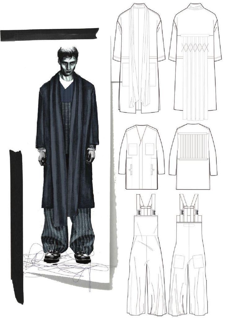 Fashion Sketchbook - fashion design drawings; fashion student portfolio // Lucy James
