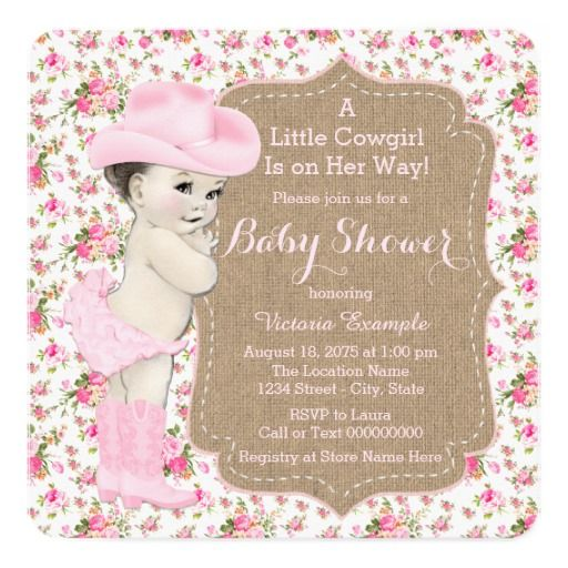 324 best images about cowgirl baby shower invitations on pinterest, Baby shower invitations