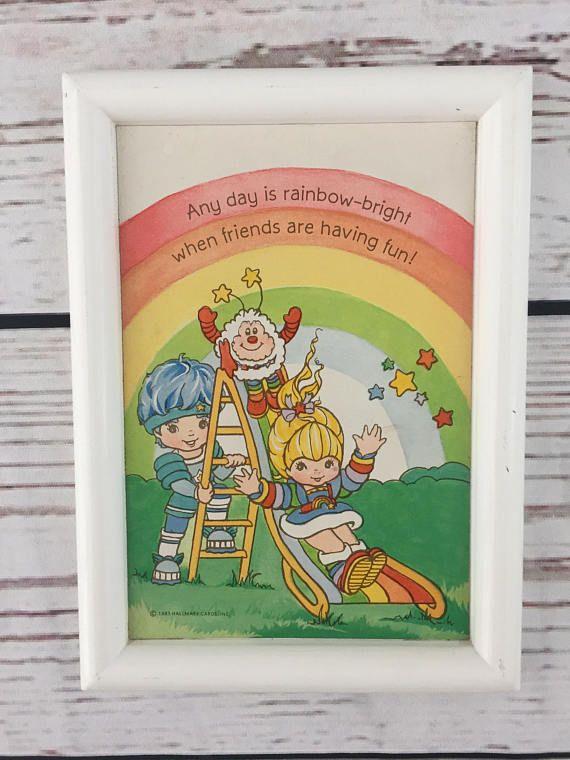 Vintage Rainbow Brite Plaque 1983 Hallmark Cards Plaque Wall