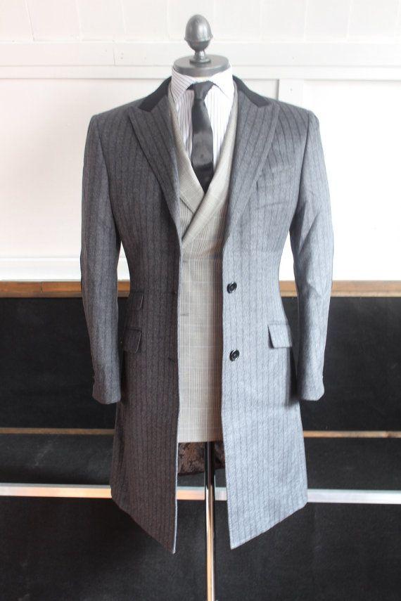 Men's Bespoke Grey OverCoat custom made by Daniel by DanielandLade