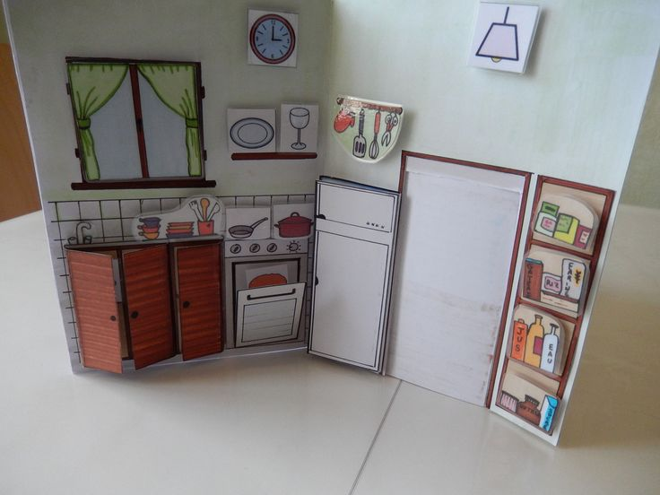 Une excellente idée pour apprendre le vocabulaire par pièce de la maison et savoir à trouver les différents objets...
