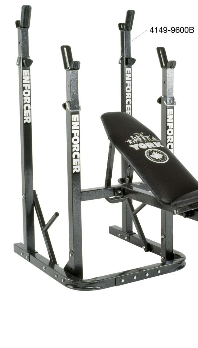 York enforcer b squat rack only for use with a bench