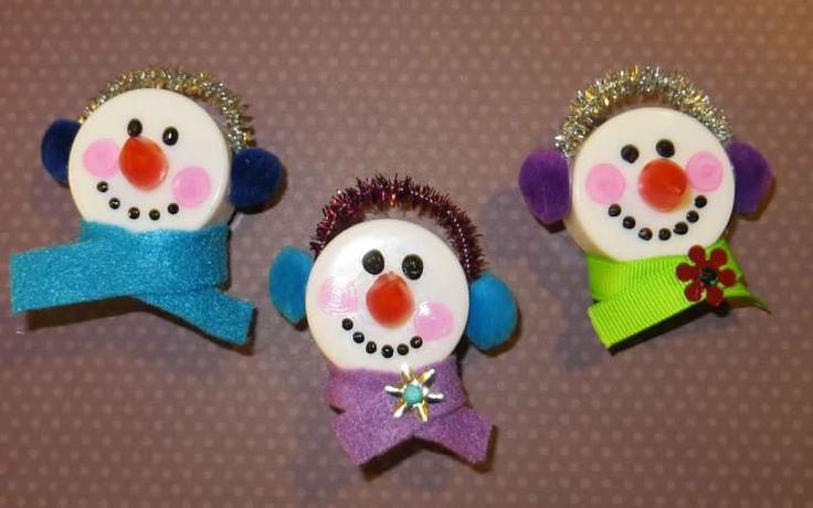 Tea light snowman magnet!