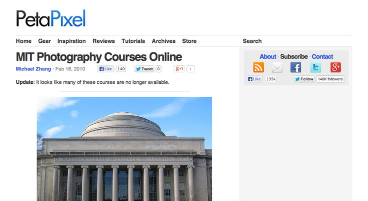 MIT Photography Courses Online