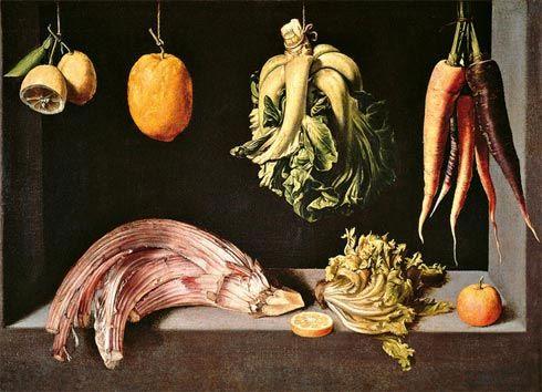 """""""Naturaleza muerta"""" (1600)- Juan Sánchez Cotán (Barroco) (España) (1561-1627)"""
