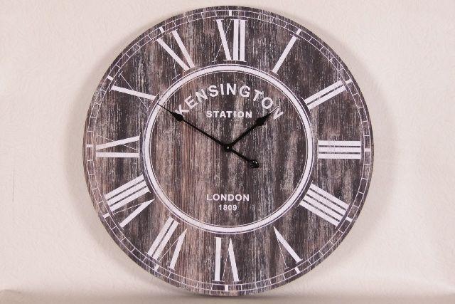 Grote houten klok | Wandklokken & Tafelklokken | Met Brocant Label