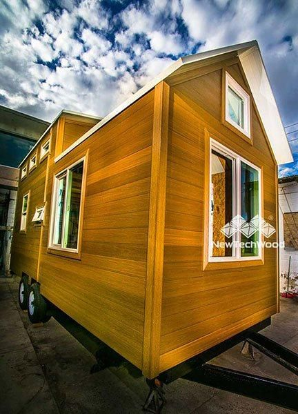 UltraShield portable house with Teak cladding