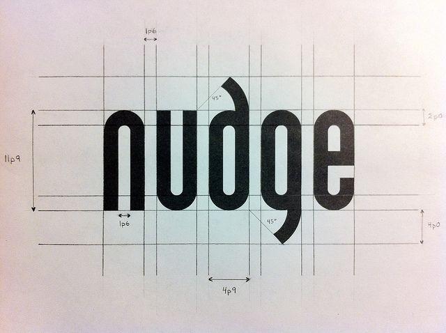 nudge logo grid logo design pinterest